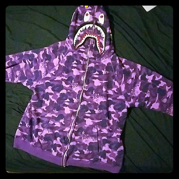 Shop Men's bathing ape Purple size L Jackets & Coats at a discounted price at Poshmark. Description: Bape purple fire camo hoodie. Limited edition . Slightly used but in near mint condition. Comment if you are trying to make an offer.. Sold by jbam17. Fast delivery, full service customer support.