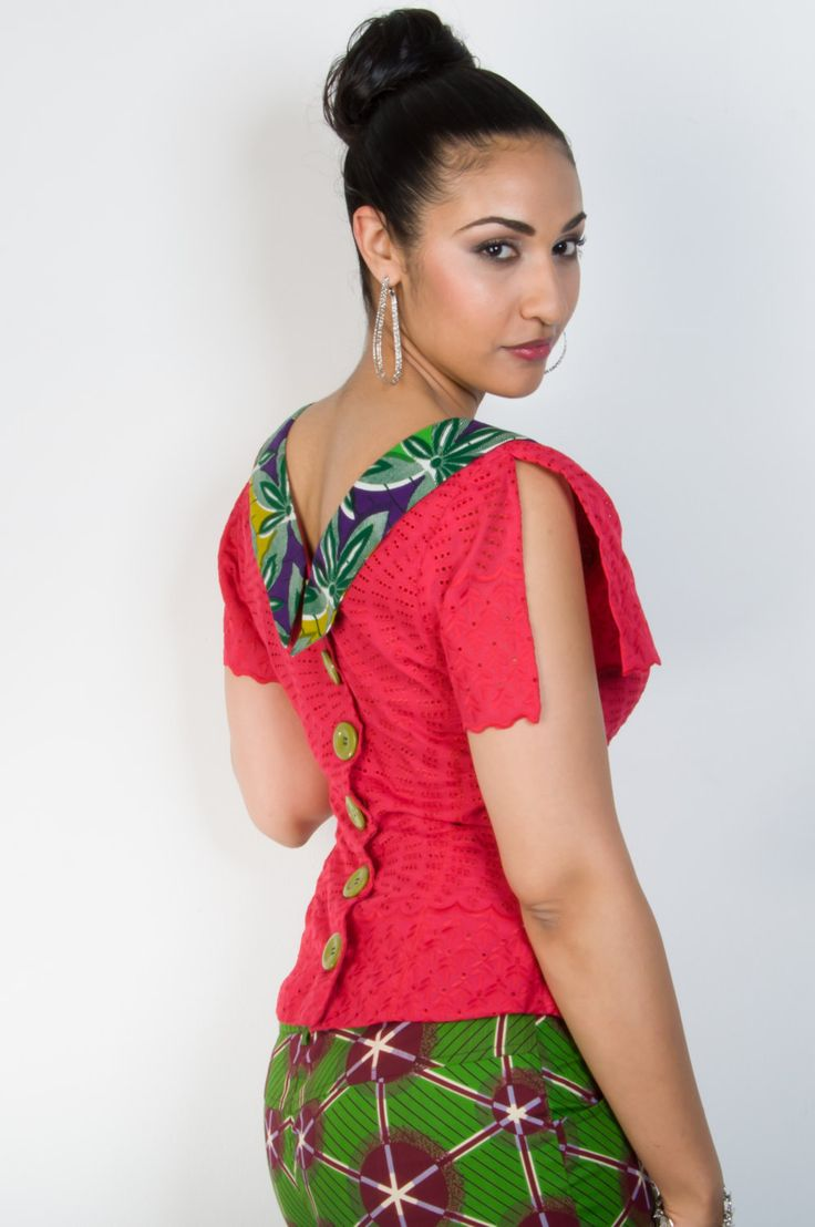SALE: Ankara Ifeoluwa blouse Ankara fabric by MisiAfriqueBoutique