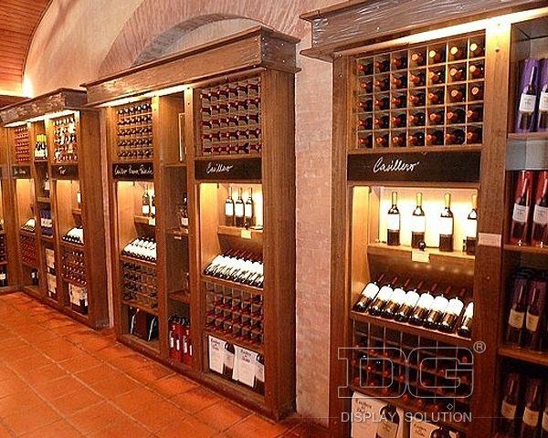 upscale wine store WD02 White Luxury Wine Shop Design