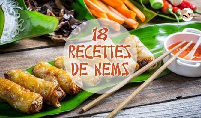 Les nems, ces petits rouleaux dorés et croquants, nous viennent du Vietnam. Ils sont composés de deux préparations bien distinctes.