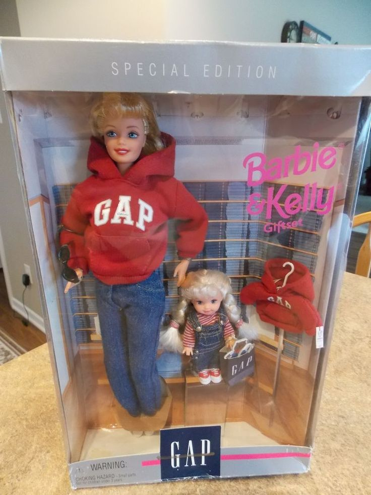 Barbie and Kelly in Gap Clothing NIB,1997,Collector Special Edition Gift Set #DollswithClothingAccessories