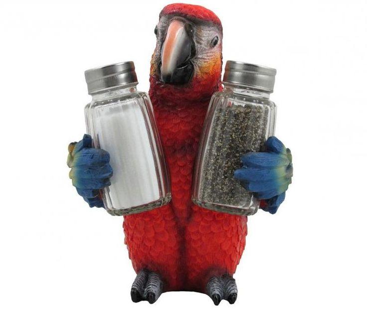 Parrot Holding Salt and Pepper Shaker Set