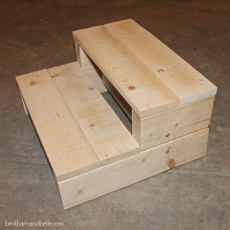 Beckham + Belle: Super Simple Kid's DIY 2x4 Wooden Step Stool