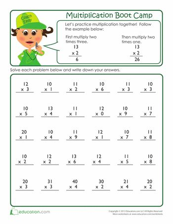multiplication boot multiplication worksheets grader master third ...