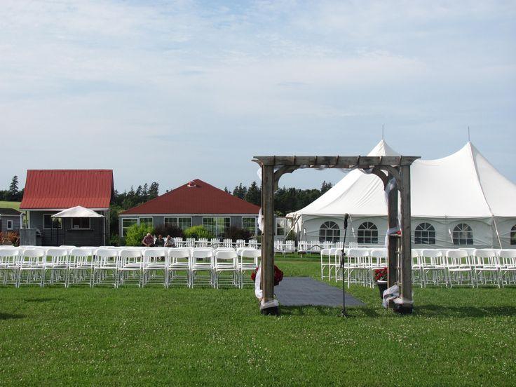 Tent, Pavilion & Ceremony area  Stanley Bridge Resort, PEI