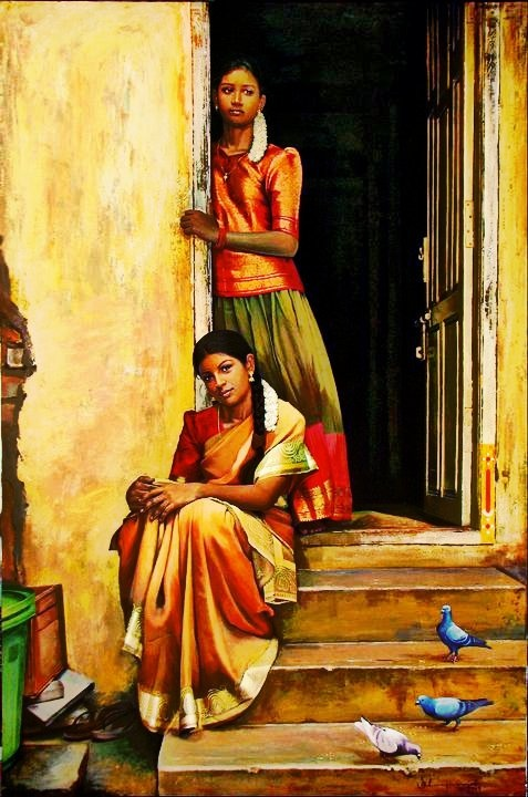 a few years ago, the half-saree or Pavada besides serving as the traditional dress was also the most admired costume of young girls in Tamil Nadu. Full-length skirt, short blouses and a davani (shawl) successfully completed this dressing style.