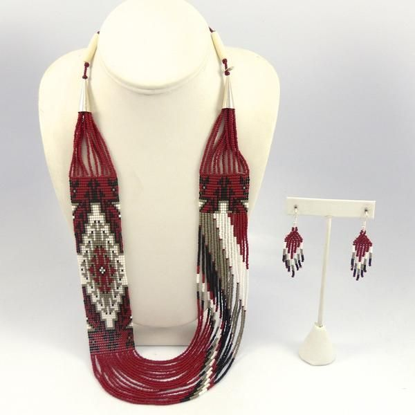 Beaded Necklace and Earring Set, Rena Charles, Jewelry, Garland's Indian Jewelry