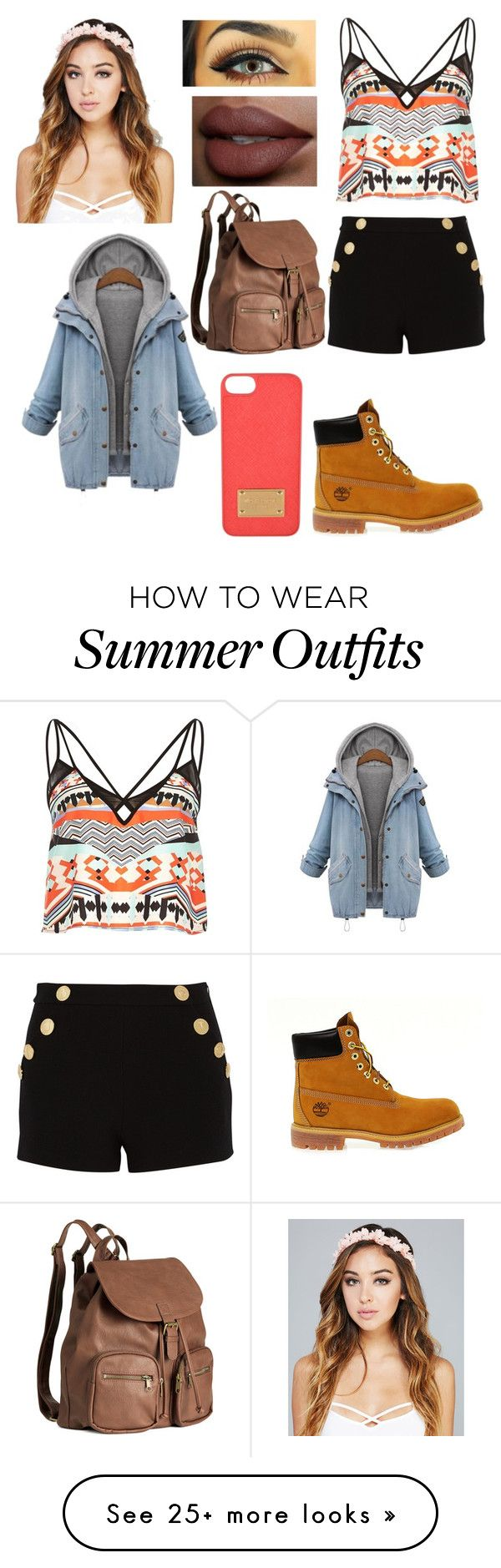 """""""Summer Outfit"""" by mysterious1skittles on Polyvore featuring mode, River Island, Boutique Moschino, H&M, Timberland et Wet Seal"""