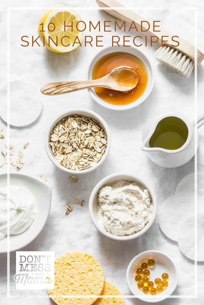 10 Homemade Natural Skin Care Recipes