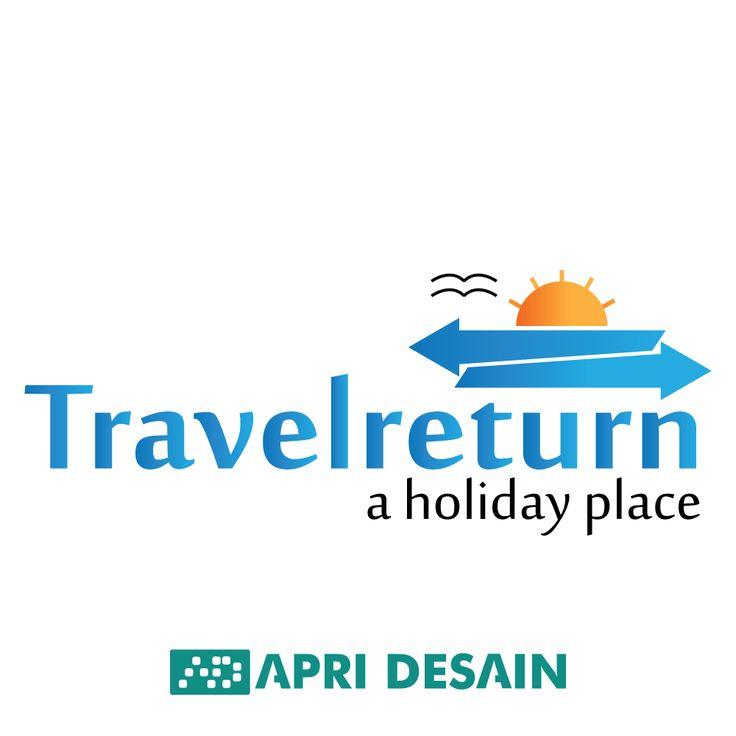 Desain Logo travel return by apridesain.id