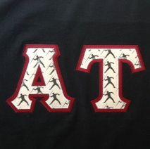 alpha tau custom fabric greek letters