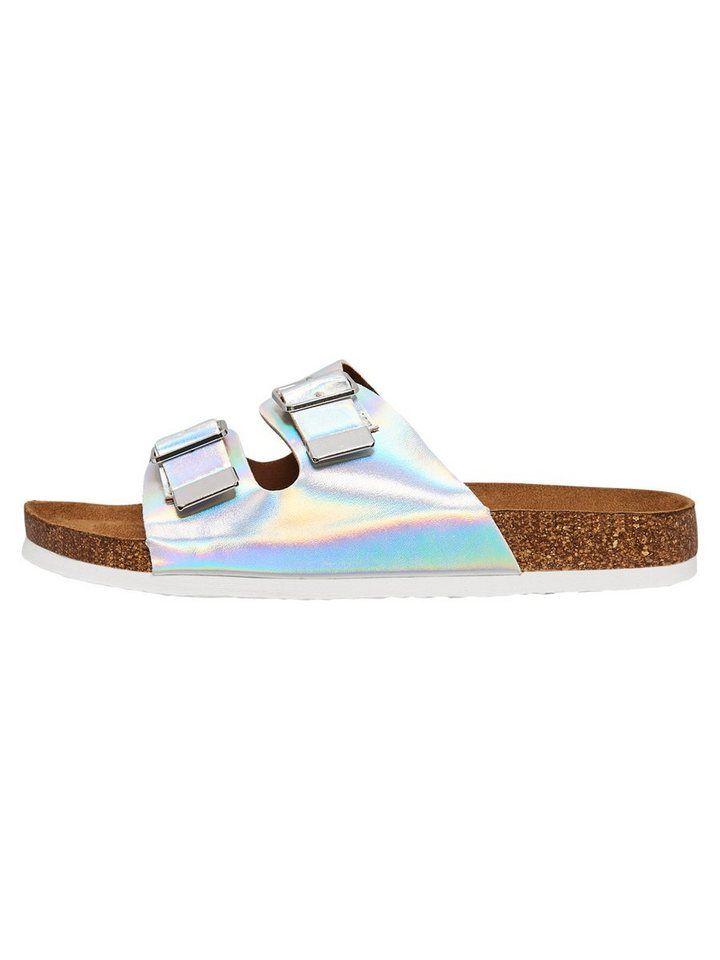 3ec9cc906a002 Only Klassische Sandalen für 34,99€. Sandalen im Metallic-Look, Detailreiche