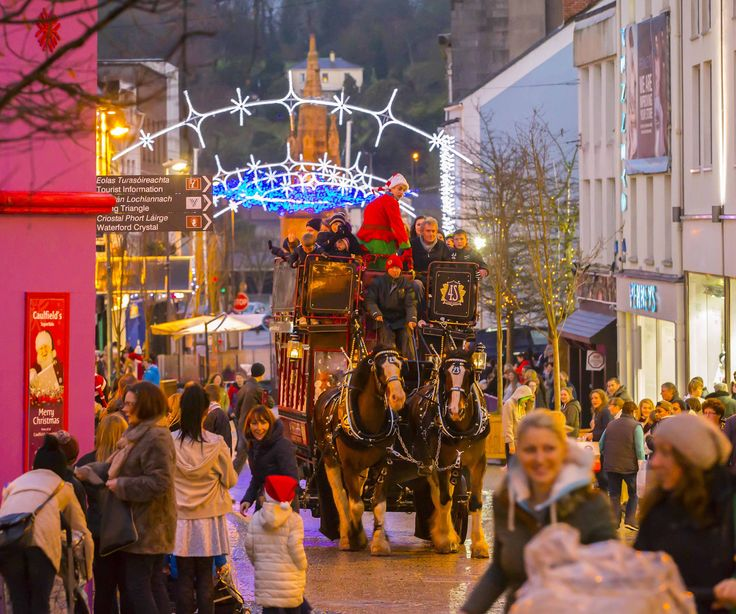 Don't miss your chance to take a magical tour of Waterford city aboard Santa's Horse Drawn Sleigh this Winterval http://winterval.rezgo.com/details/69104/horse-drawn-sleigh