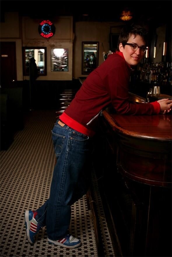 """pimmyjalmer: """" deborah feingold (@doowaadiddy): Today's Birthday of a Perfect Political Pundit I Photographed: Rachel Maddow (2007) @maddow @msnbc @peoplemag """""""