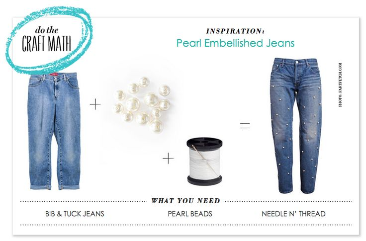P.S.-Do the Pearl Embellished Jean CRAFT MATH w/ @Bib + Tuck   Details here: http://psimadethis.com/craftmath ‪#‎CRAFTMATH‬ ‪#‎DIY‬