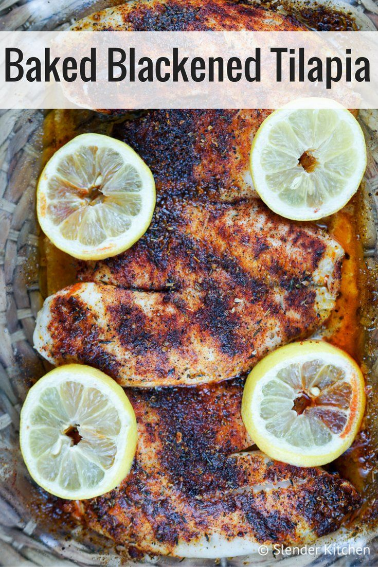 Baked Blackened Tilapia - Slender Kitchen