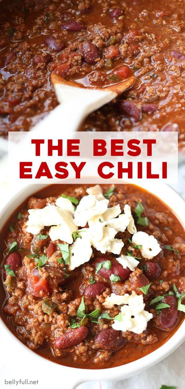 The Best Easy Chili Recipe Recipe In 2020 Chili Recipe Easy Chili Recipes Best Easy Chili Recipe