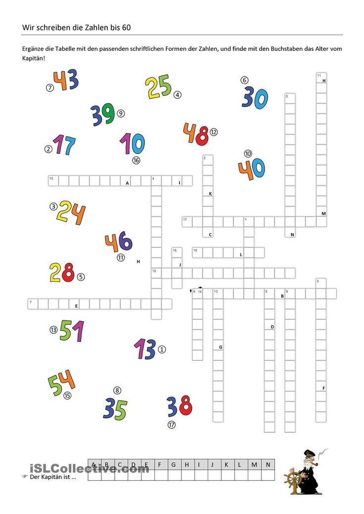 Zahlen Spanisch 1-20