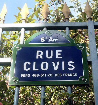La rue Clovis  (Paris 5ème)