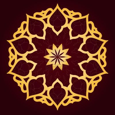 Wall design. Vector of traditional Persian-Arabic-Turkish-Islamic Pattern