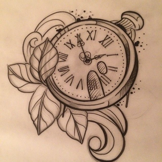 The gallery for time clock tattoo designs for girls for First child tattoo ideas