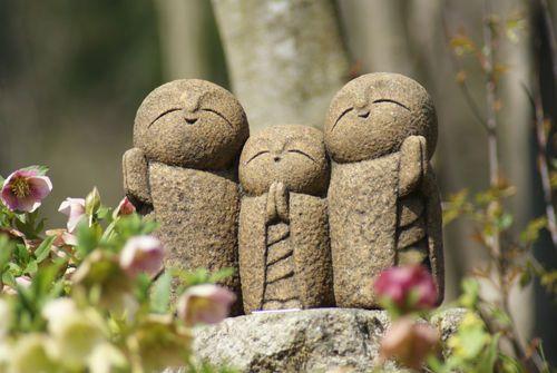 Japan Collection Healing Ksitigarbha / made of Granite / JIZO 地蔵 / H 19 cm