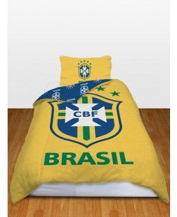 Brazil Football Team Official Single Duvet Cover and Pillowcase Set - CBF