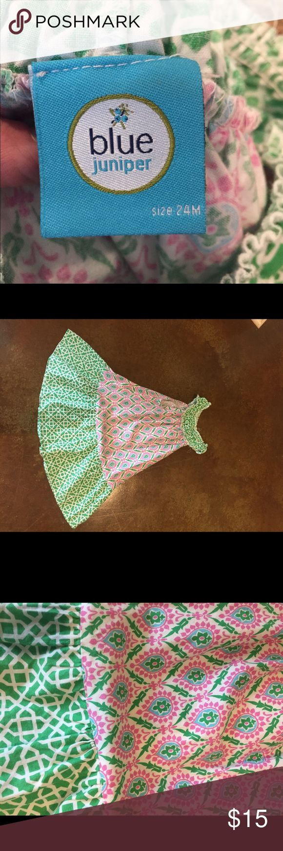 Strapless dress green and pink Pink and green dress blue juniper Dresses Casual