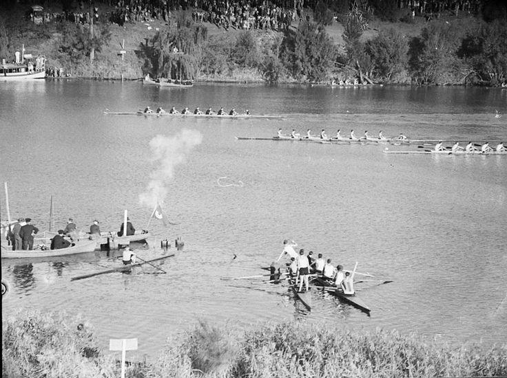 GPS Regatta at Penrith, N.S.W. Australia. Nepean River 1940.