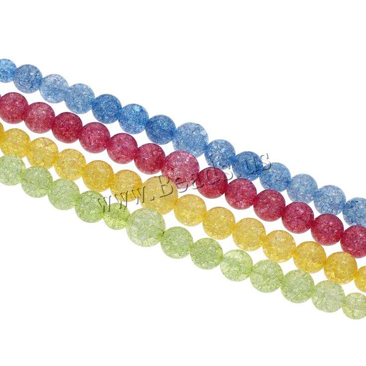 Crackle Quartz Beads, Glass, Round, graduated beads, more colors for choice