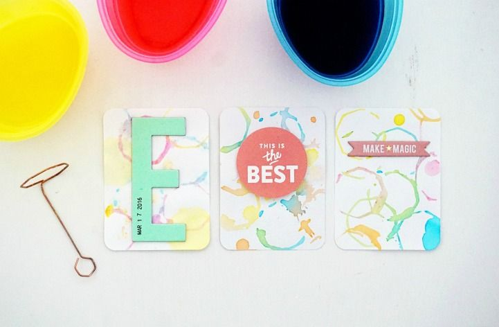 Easter Crafting with The Jot Girls - Project Life filler cards from Beshka Kueser.
