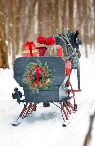 To grandmothers house we go... The horse knows the way to carry the sleigh....