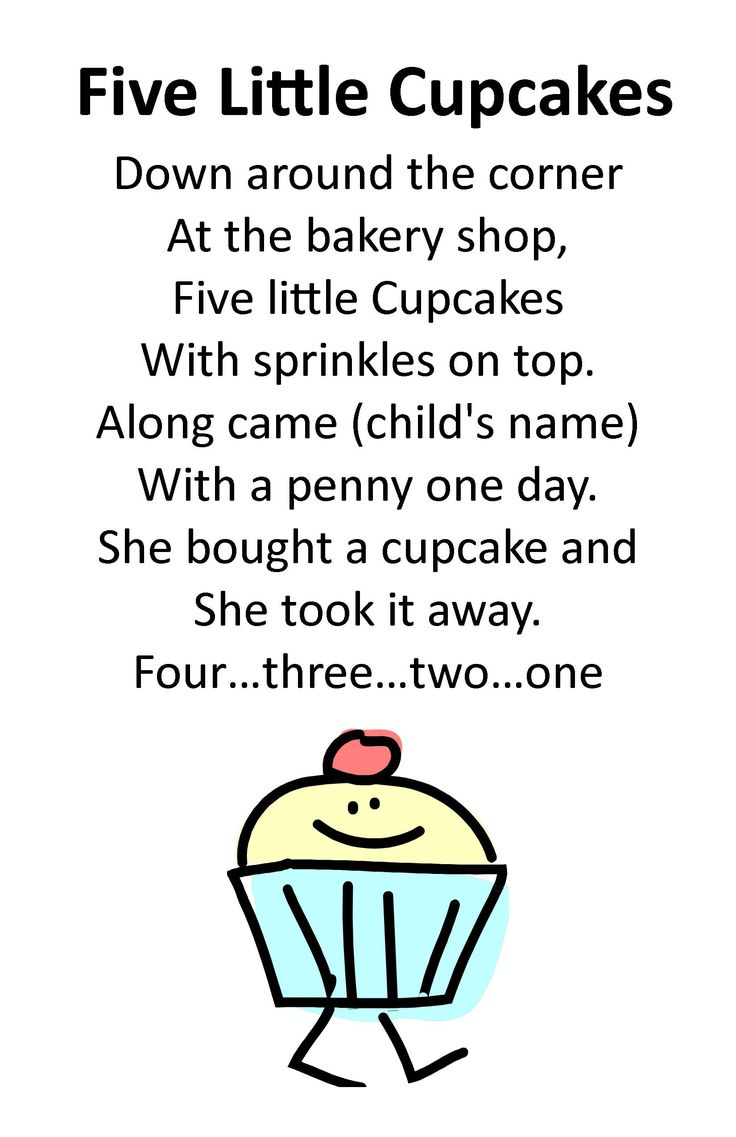 Drop In Storytime Rhyme - Five Little Cupcakes