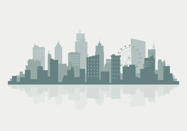Download Silhouette Skyline Illustration For Free City Vector City Silhouette Skyline