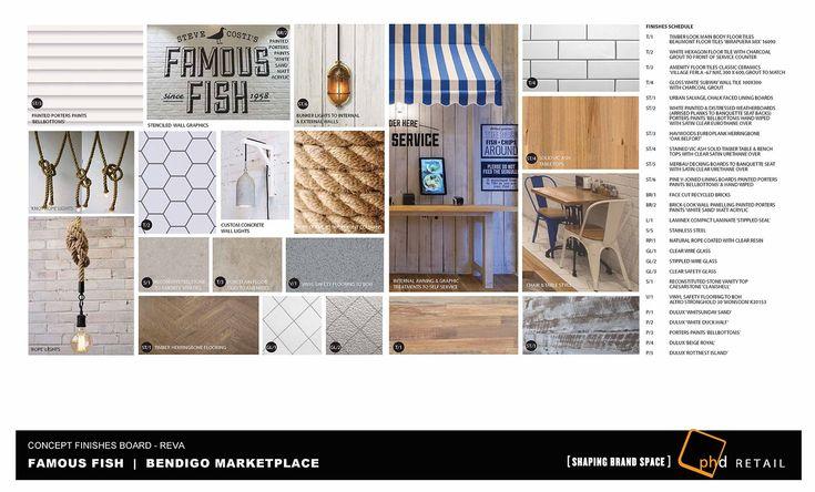 Famous Fish - Bendigo Market Place - Mood Board