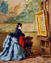 Vito d'Ancona ~ In the Study ~ (Italian: 1825-1884)