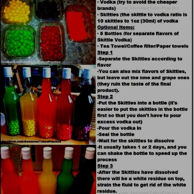 how to make skittle vodka shots