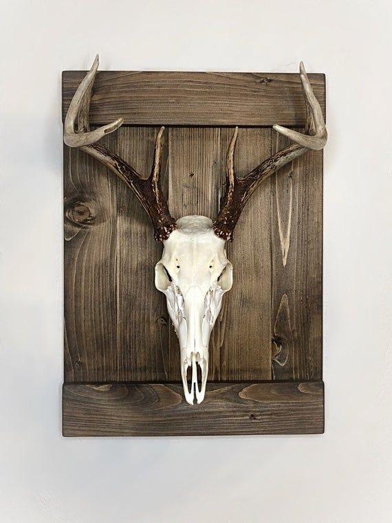 Shutter Style Deer European Skull Mount Wood Plaque Wall Display In 2020 Deer Head Decor Deer Head Wall Decor Deer Mount Decor
