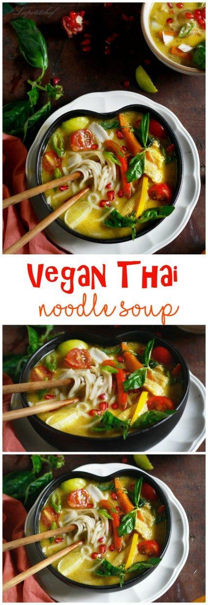 vegan Thai noodle soup                                                                                                                                                                                 More