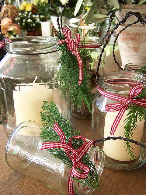 "MatildasDesign, Candle glasses.  ""I made some lovley candle glasses from empty preserving glasses for decoration."""