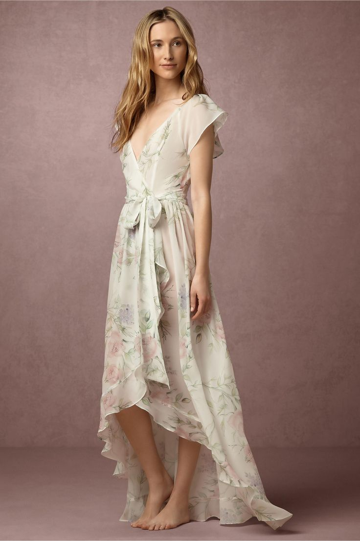 Homebodii Partners with Anthropologie's BHLDN // Exclusive collaboration includes handpainted floral prints, and dreamy luxe robes.
