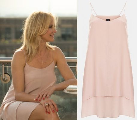 cameron diaz other woman movie carly pink nude blush slip dress  OTHER WOMAN MOVIE FASHION PT 2: CAMERON DIAZS WARDROBE