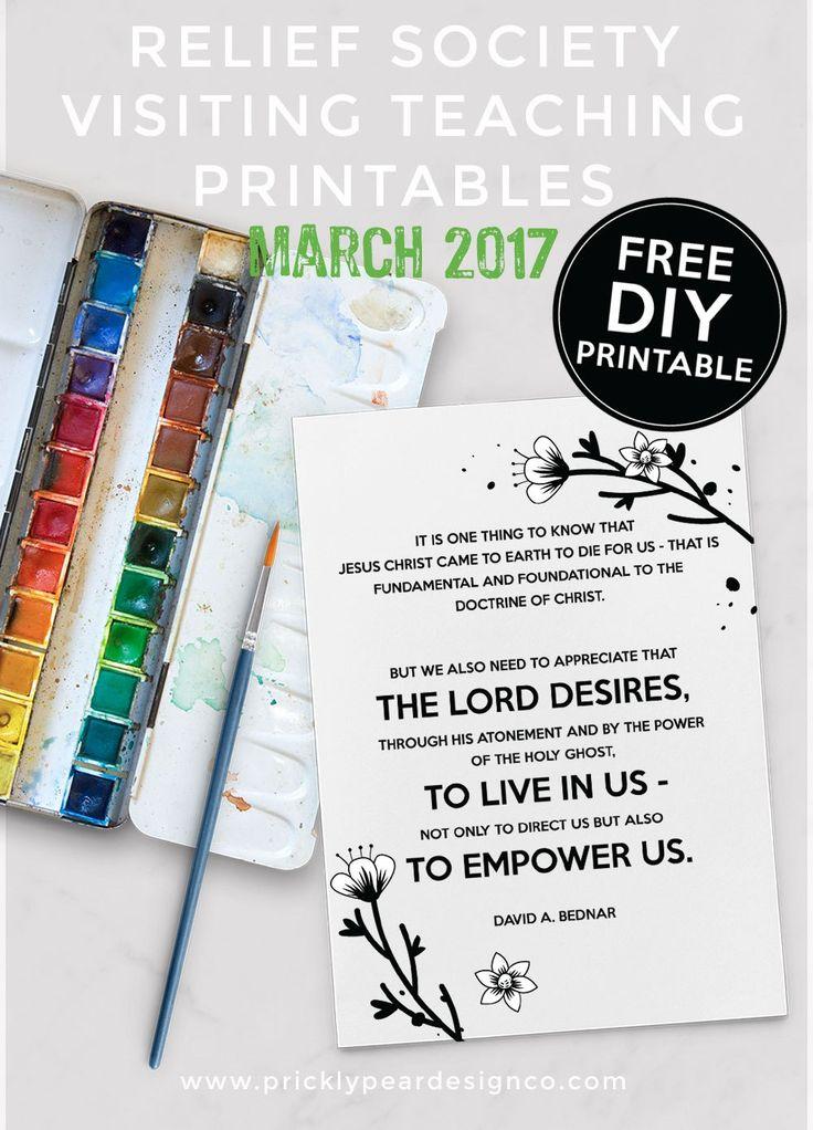 March 2017 Visiting Teaching Printable – FREE DIY Printable