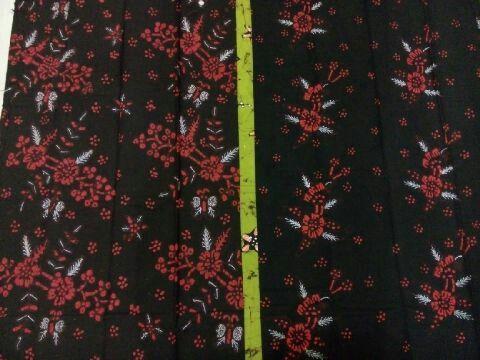 Red In Black Batik Bakaran