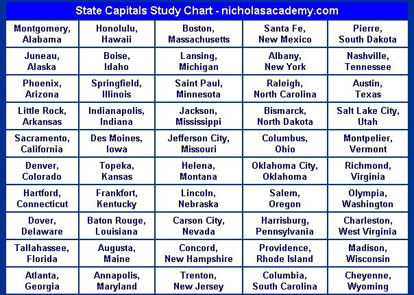 Best State Capitals Images On Pinterest  States States And - Free printable us map with states and capitals