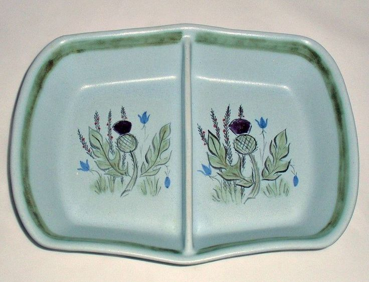 35 best vintage pottery porcelain images on pinterest vintage vintage buchan stoneware thistle divided baking serving dish 1125 hp scotland sciox Gallery