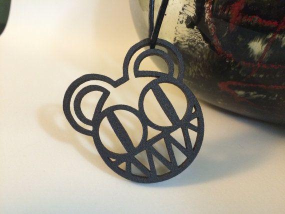Radiohead Bear  Matte Black Steel  pendant/keychain by JoyComplex