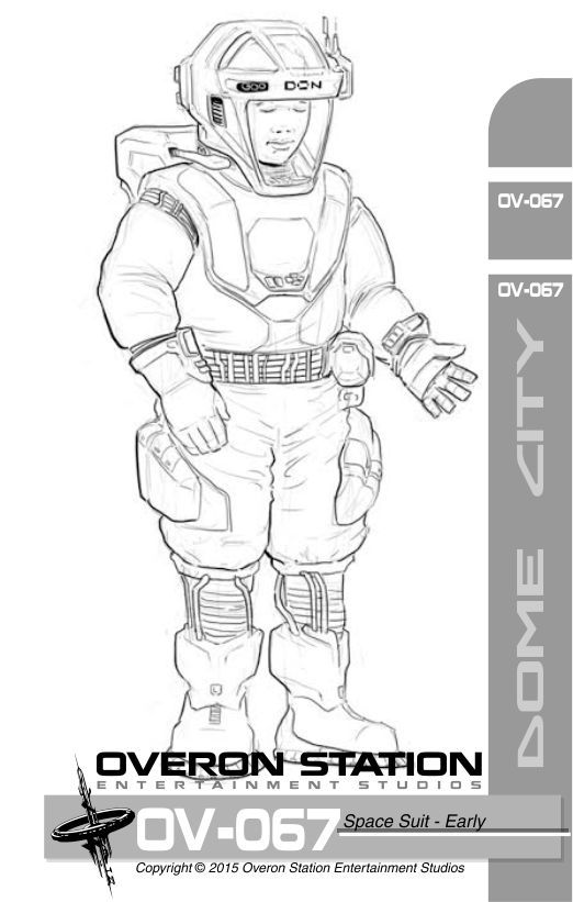 Earliest spacesuit design of our upcoming sci-fi adventure game with puzzles and mysteries, Dome City