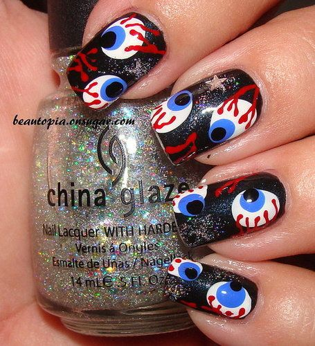 lol halloween nails!