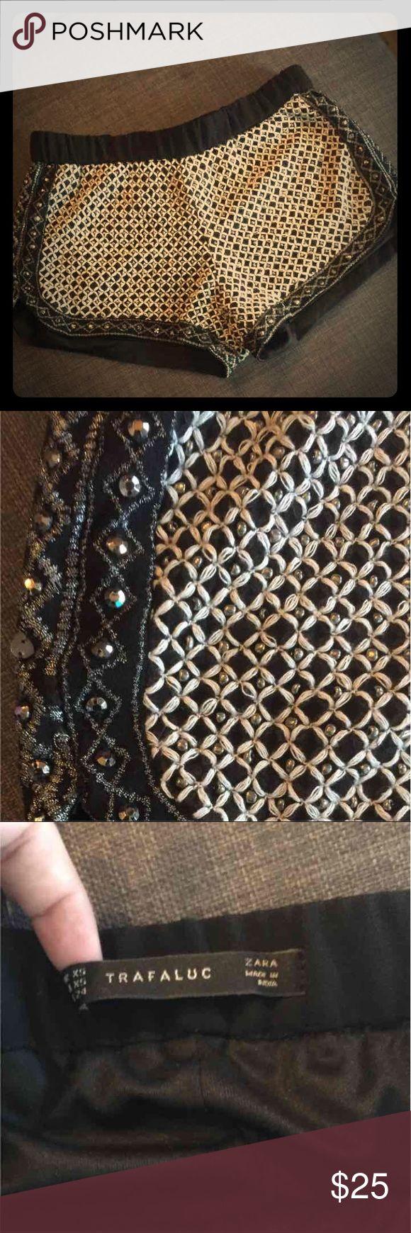 Trafaluc for Zara shorts Beaded dolphin shorts. Great condition. Size xs Zara Shorts